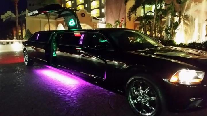 Dodge Charger Limo In Daytona Beach Jet Door